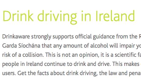 DrinkAware Drink driving