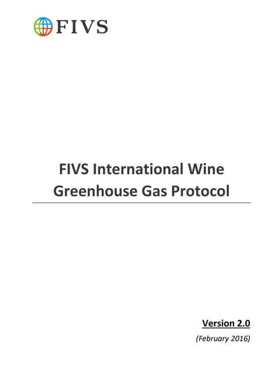 International Wine Greenhouse Gas Protocol Screenshot