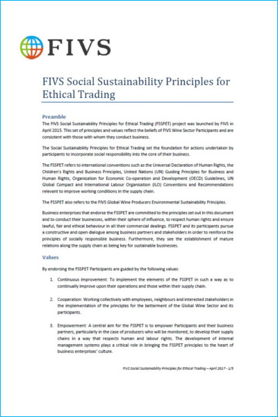 Social Sustainability Principles